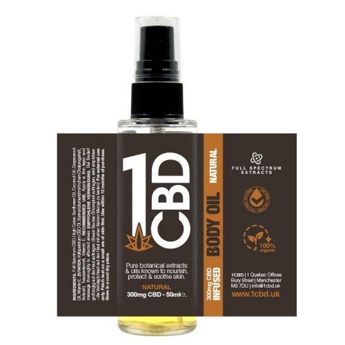 1CBD 300Mg CBD Body spray, buy online at AOC for world wide shipping