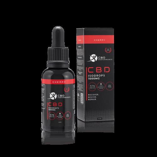 CBD Performance 1000Mg CBD Isodrops, Cherry flavour, Worldwide shipping, buy online at AOC