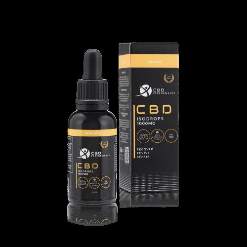 CBD Performance 1000Mg Cbd isodrops mango flavour, buy online at authentic organic CBD