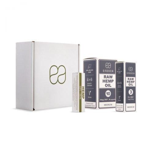 Endoca CBD Starter Pack Medium Strength, great value, buy online at authentic organic CBD for international shipping