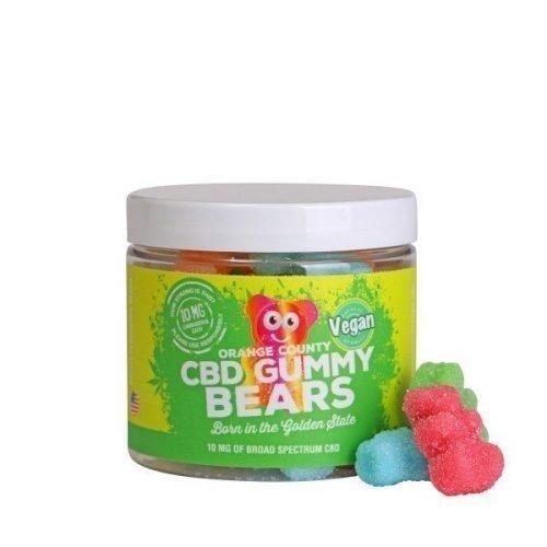 Orange County CBD Gummy Bears, buy online at authentic organic CBD