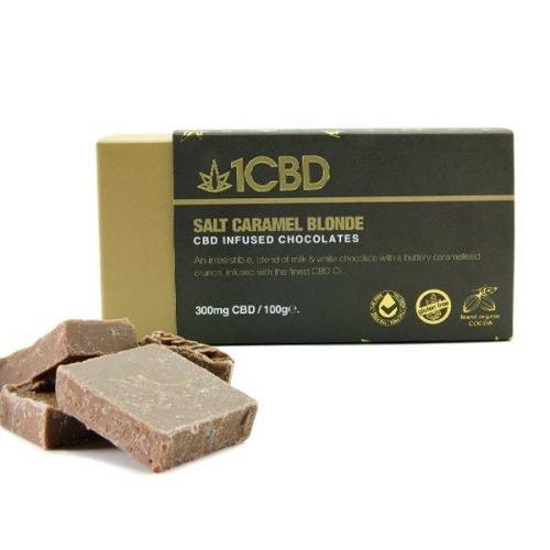 1 cbd, CBD infused salt caramel chocolates