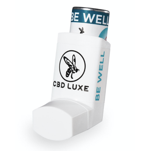 CBD Luxe, Be Well, 1100mg CBD Inhaler, with honey and green tea, buy online at AOC for worldwide shipping