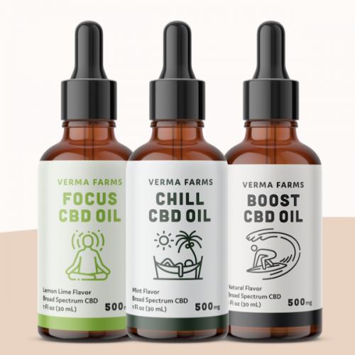Verma Farms CBD Oils, NO THC, buy online Japan