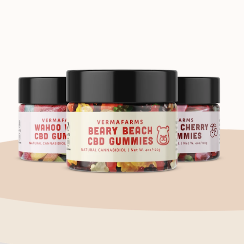 Verma Farms CBD gummies multi saving pack, 250mg CBD